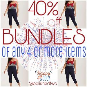 BLOWOUT SALE: 40% off BUNDLES of 4+, ends July 4th